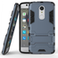 Slim Armor Kickstand Tough Protective Cover Case For ZTE AXON 7 Mini 5.2 inch - Navy blue
