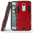 Slim Armor Kickstand Tough Protective Cover Case For ZTE AXON 7 Mini 5.2 inch - Red