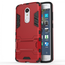 Slim Armor Kickstand Tough Protective Cover Case For ZTE AXON 7 Mini 5.2 inch - Red