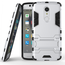 Slim Armor Kickstand Tough Protective Cover Case For ZTE AXON 7 Mini 5.2 inch - Silver
