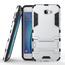Tough Protective Hybrid Armor Slim Kickstand Cover Case for Samsung Galaxy On5 (2016) - Silver