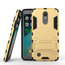Dual Layer Armor Hard Slim Hybrid Kickstand Phone Cover Case for LG K20 Plus / K10 2017 / K20 V / LV5- Gold