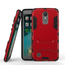 Dual Layer Armor Hard Slim Hybrid Kickstand Phone Cover Case for LG K20 Plus / K10 2017 / K20 V / LV5- Red