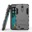 Dual Layer Armor Hard Slim Hybrid Kickstand Phone Cover Case for LG K20 Plus / K10 2017 / K20 V / LV5- Grey