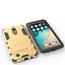 Dual Layer Armor Hard Slim Hybrid Kickstand Phone Cover Case for LG K20 Plus / K10 2017 / K20 V / LV5- Silver