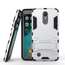 Dual Layer Armor Hard Slim Hybrid Kickstand Phone Cover Case for LG K20 Plus / K10 2017 / K20 V / LV5- Silver