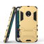 Hybrid ShockProof Protective Rugged Case with Kickstand for Motorola Moto G5 Plus - Gold