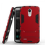 Hybrid Soft TPU&Hard Protective Case With Kickstand For LG Stylo 3 / Stylo 3 Plus - Red