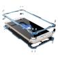 R-JUST Gundam Shockproof Full Aluminum Metal Case Cover for iPhone 8 Plus 5.5inch - Blue