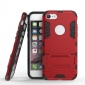 Slim Armor Shockproof Kickstand Protective Case for iPhone 8 4.7inch - Red