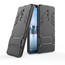 Slim Armor Stand Shockproof Hybrid Rugged Rubber Hard Back Case for LG G7 ThinQ - Black