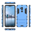 Slim Armor Stand Shockproof Hybrid Rugged Rubber Hard Back Case for LG G7 ThinQ - Blue