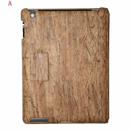 Ipad 3 Cases Wood,wholesale Classical Wood Grain Design Cover for Apple the New iPad 3