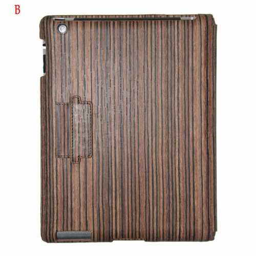 Wood Grain iPad Cases,discount Classical Wood Grain Design Cover for Apple the New iPad 3