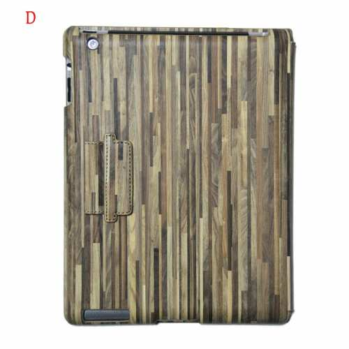 The Latest Wood Cover for The New iPad,on sale Classical Wood Grain Design Cover for Apple the New iPad 3