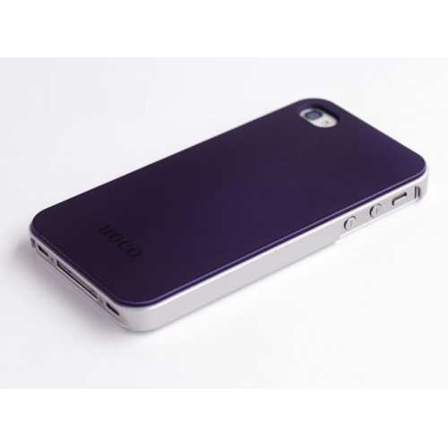 wholesale HOCO Colorized Back Cover Case for iPhone 4/4S - Purple