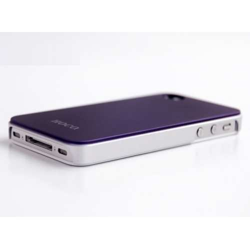 cheap HOCO Colorized Back Cover Case for iPhone 4/4S - Purple