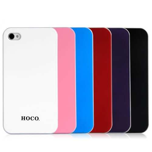 top quality HOCO Colorized Back Cover Case for iPhone 4/4S - Purple