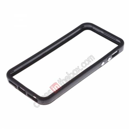 wholesale Rubber and plastic Bumper for iPhone SE/5S/5 - Black