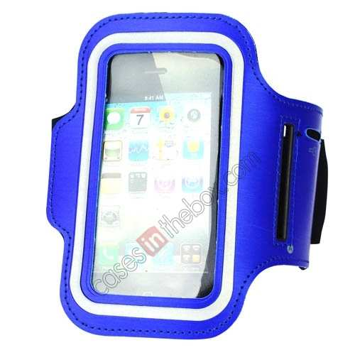 sports armband case,wholesale Sport Armband Arm Strap Cover Case Holder For iPhone 5 5S - Blue