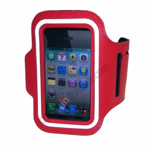 arm holder for iphone5,wholesale Sport Armband Arm Strap Cover Case Holder For iPhone 5 5S - Red