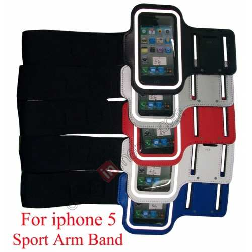 arm strap for iphone5,cheap Sport Armband Arm Strap Cover Case Holder For iPhone 5 5S - Red