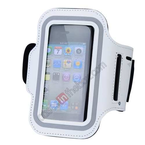 sports armband iphone5,wholesale Sport Armband Arm Strap Cover Case Holder For iPhone 5 5S - White