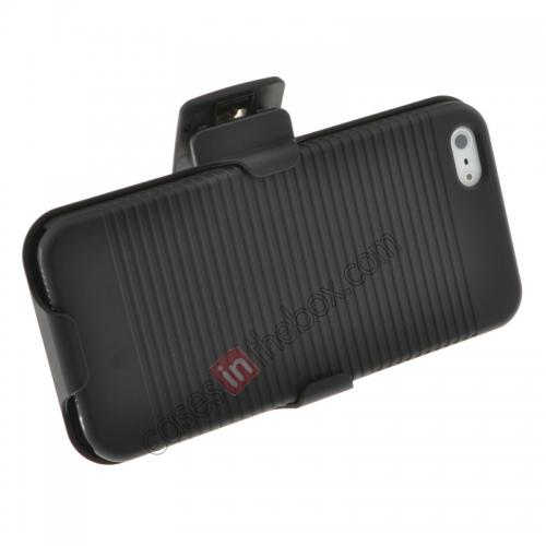 Combo Holster Case For Iphone 5 ,cheap Hard Plastic Cover With belt clip holster and kickstand Combo Case for iPhone 5 5S