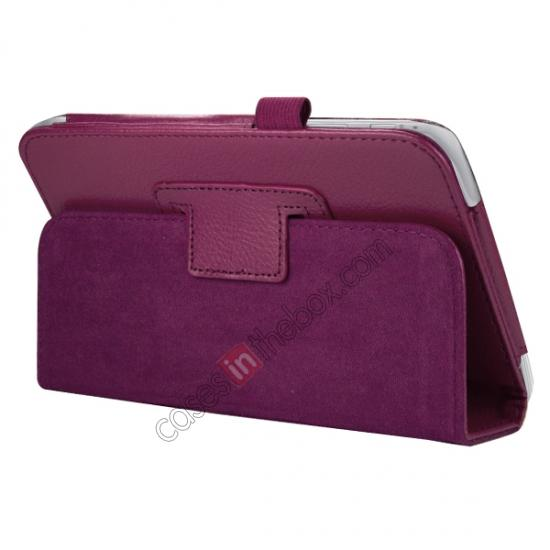 discount Leather Folding Folio Stand Case Cover For Samsung Galaxy Tab 3 7.0 T210 P3200 P3210 - Rose red