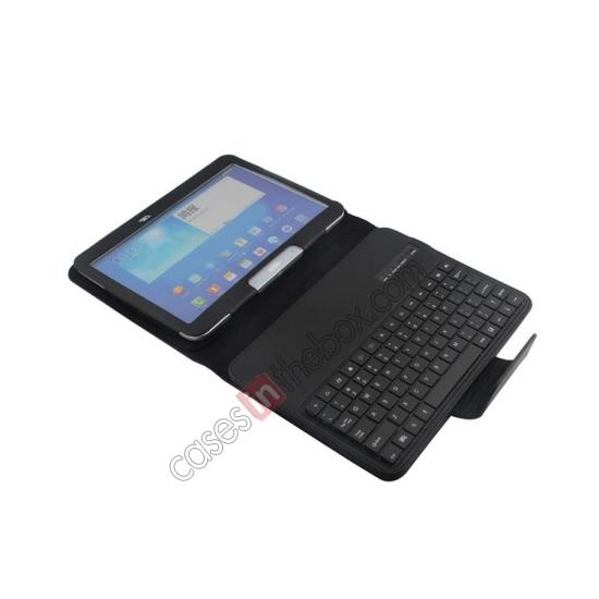samsung galaxy tablet 10.1 smart cover,best price Detachable Bluetooth Keyboard + Flip Stand Leather Case For Samsung Galaxy Tab 3 10.1 P5200 P5210 - Black