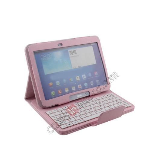 galaxy 10.1 cover,cheap Detachable Bluetooth Keyboard + Flip Stand Leather Case For Samsung Galaxy Tab 3 10.1 P5200 P5210 - Pink