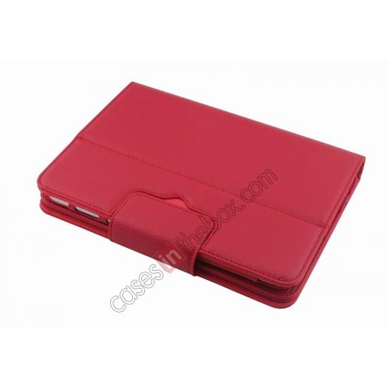 china wholesale Detachable Bluetooth Keyboard + Flip Stand Leather Case For Samsung Galaxy Tab 3 10.1 P5200 P5210 - Red