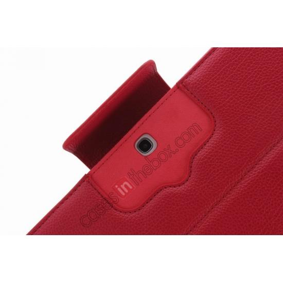 low price Detachable Bluetooth Keyboard + Flip Stand Leather Case For Samsung Galaxy Tab 3 10.1 P5200 P5210 - Red