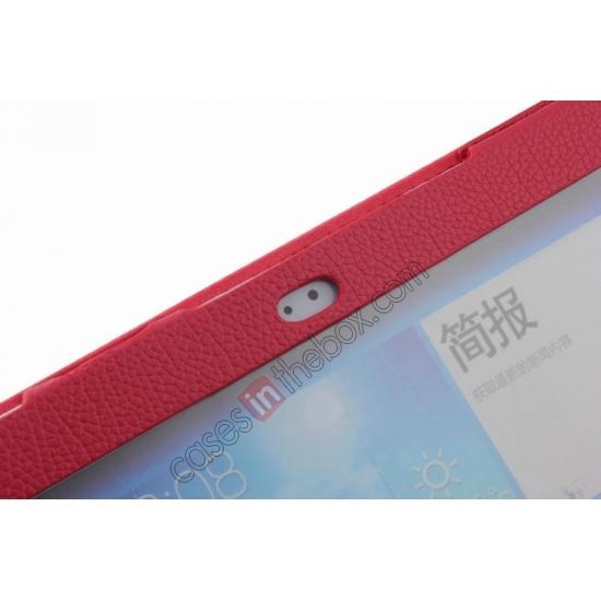 high quanlity Detachable Bluetooth Keyboard + Flip Stand Leather Case For Samsung Galaxy Tab 3 10.1 P5200 P5210 - Red