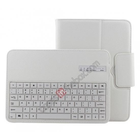 samsung galaxy tab 10.1 bag,wholesale Detachable Bluetooth Keyboard + Flip Stand Leather Case For Samsung Galaxy Tab 3 10.1 P5200 P5210 - White