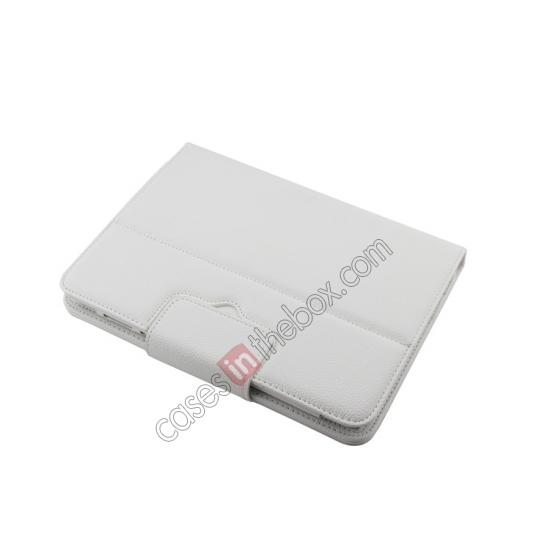 high quanlity Detachable Bluetooth Keyboard + Flip Stand Leather Case For Samsung Galaxy Tab 3 10.1 P5200 P5210 - White