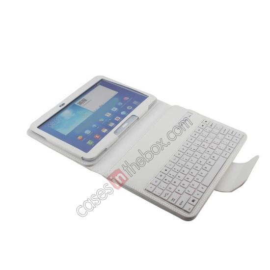 stand for galaxy tab 10.1,cheap Detachable Bluetooth Keyboard + Flip Stand Leather Case For Samsung Galaxy Tab 3 10.1 P5200 P5210 - White