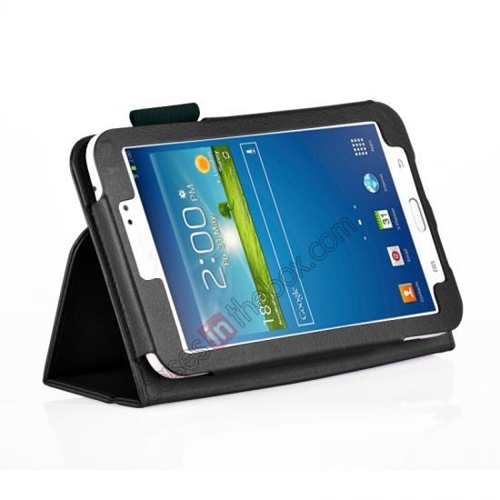 wholesale Flip PU Leather Case Cover for Samsung Galaxy Tab 3 8.0 T310/T3110 - Black