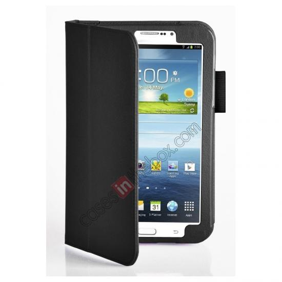 discount Flip PU Leather Case Cover for Samsung Galaxy Tab 3 8.0 T310/T3110 - Black
