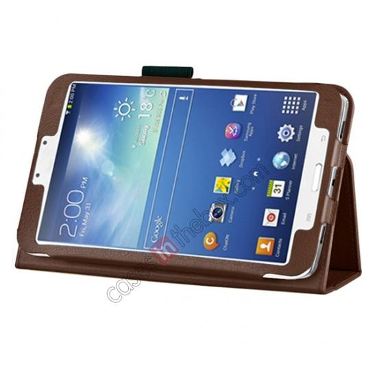 wholesale Flip PU Leather Case Cover for Samsung Galaxy Tab 3 8.0 T310/T3110 - Brown