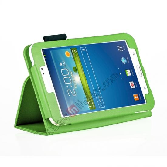 wholesale Flip PU Leather Case Cover for Samsung Galaxy Tab 3 8.0 T310/T3110 - Green