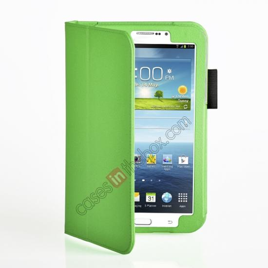 discount Flip PU Leather Case Cover for Samsung Galaxy Tab 3 8.0 T310/T3110 - Green