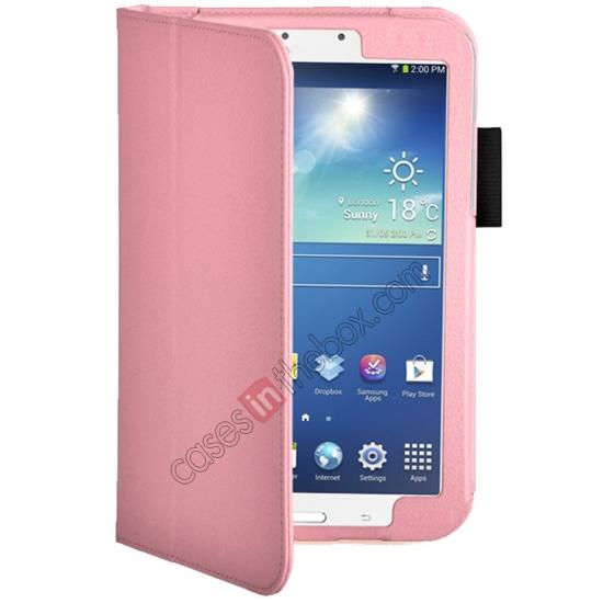 discount Flip PU Leather Case Cover for Samsung Galaxy Tab 3 8.0 T310/T3110 - Pink