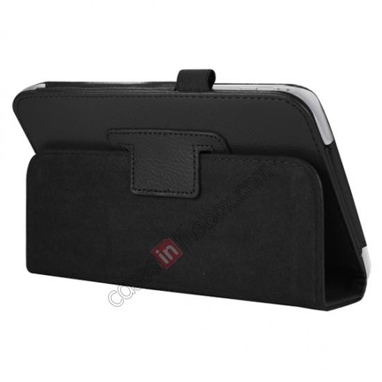 discount Leather Folding Folio Stand Case Cover For Samsung Galaxy Tab 3 7.0 T210 P3200 P3210 - Black