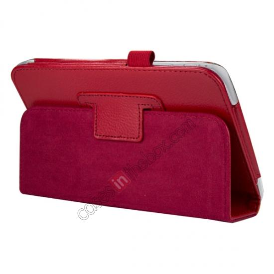 discount Leather Folding Folio Stand Case Cover For Samsung Galaxy Tab 3 7.0 T210 P3200 P3210 - Red