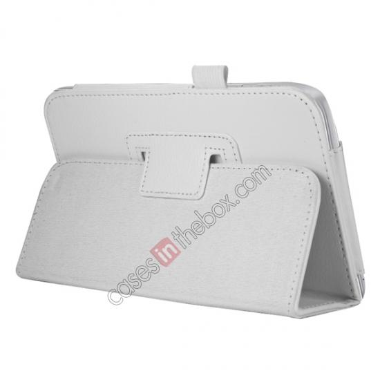 discount Leather Folding Folio Stand Case Cover For Samsung Galaxy Tab 3 7.0 T210 P3200 P3210 - White