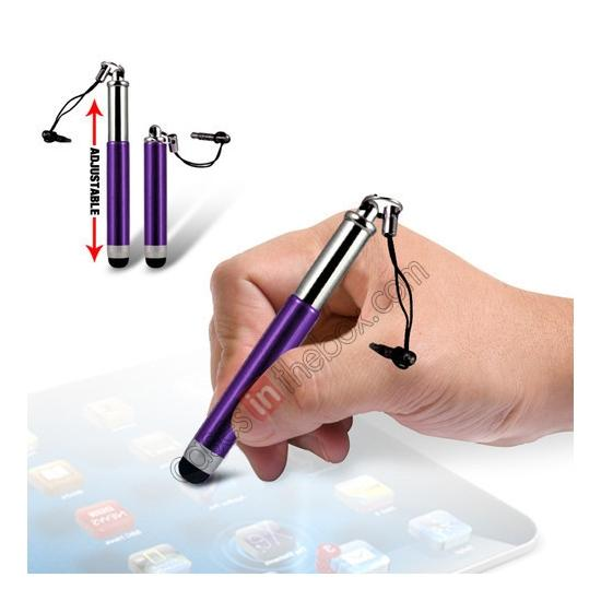 wholesale Capacitive aluminium stylus pen for mobile phones, PDA, Tablet PC, iPad & iPhone - Purple