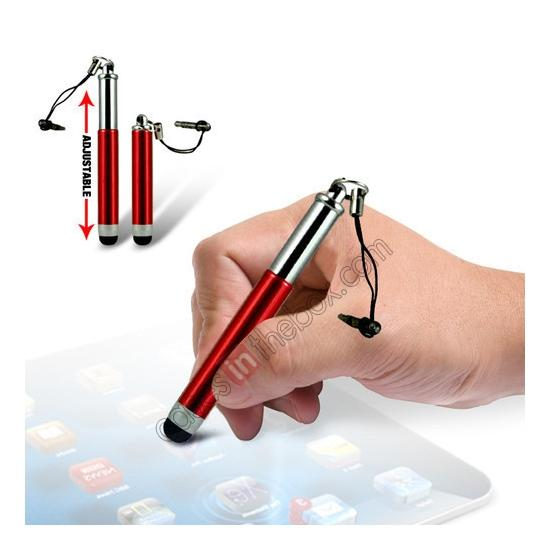 wholesale Capacitive aluminium stylus pen for mobile phones, PDA, Tablet PC, iPad & iPhone - Red