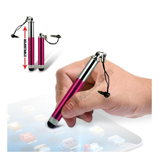 wholesale Capacitive aluminium stylus pen for mobile phones, PDA, Tablet PC, iPad & iPhone - Rose red