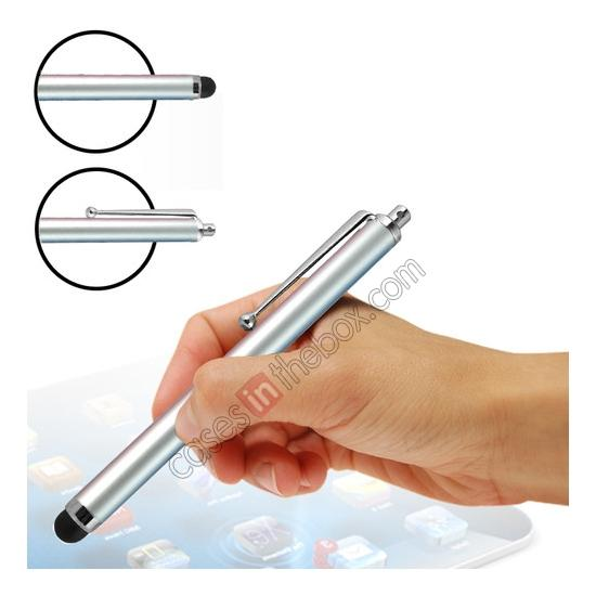 wholesale Capacitive aluminium stylus pen for mobile phones, PDA, Tablet PC, iPad & iPhone - Silver